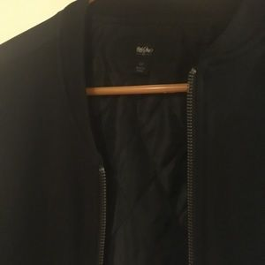 Mossimo bomber mixed fabric lightweight jacket